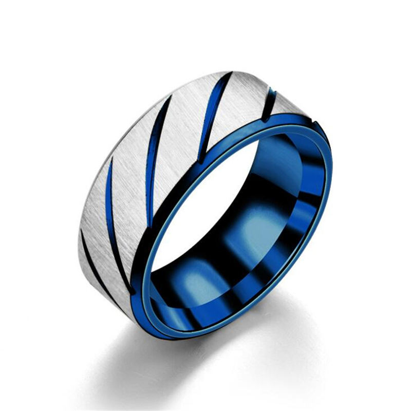 100% Titanium Rings For Men Three Colors Lines Trendy Wedding Rings Fashion For Women Party Jewelry Wholesale