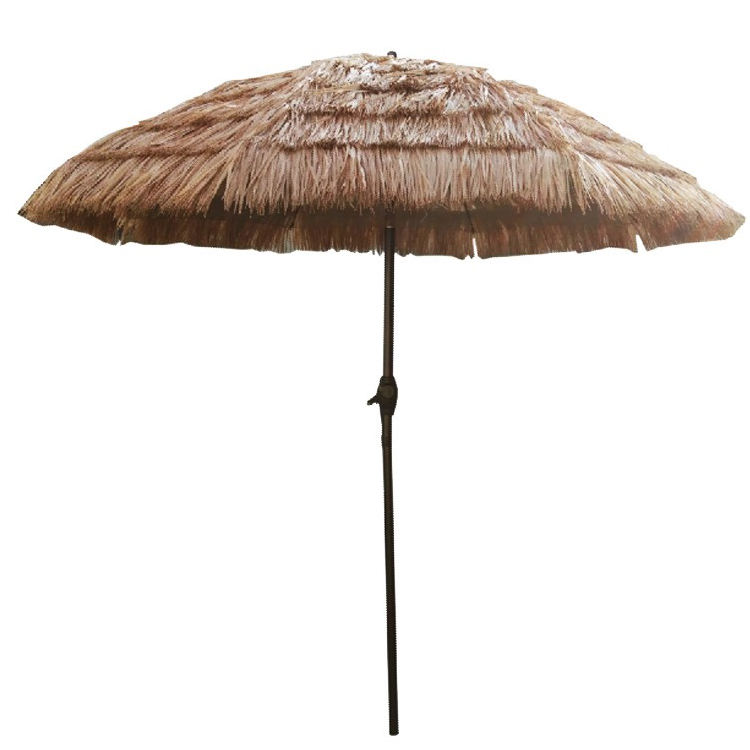 7.5FT Tropical sintético Thatch Tiki inclinación sombrilla de paja para playa