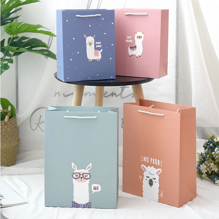 Personality And Fashion Cartoon Gift Bag Creative Gift Wrapping Bag Birthday Gift Tote Bag