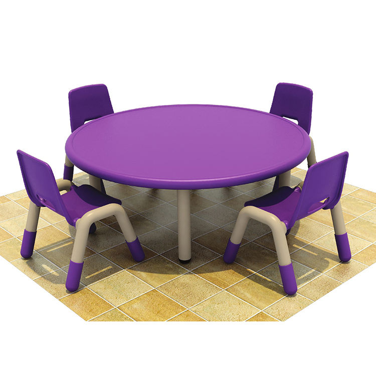 Custom made cheap modern kids plastic furniture table chair sets