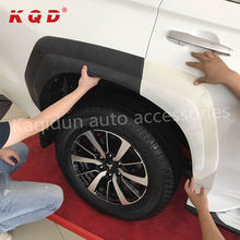car wheel arch matte black fender flare accessories body kit for mitsubishi pajero sport 2016