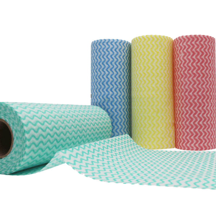 spunlace colorful wavyline mesh nonwoven fabric