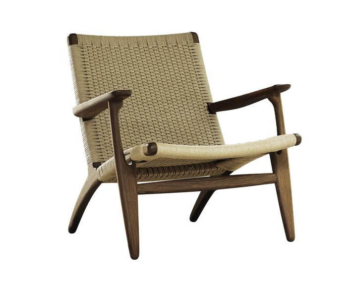Replica hans wegner solid wood ch25 easy leisure chair by paper cord