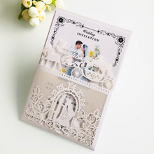 chinese wedding invitation card voice recording greeting card 3d card pop