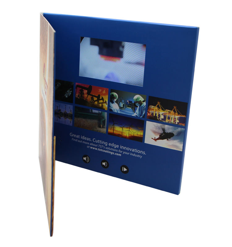Lager Produkte Audio 4,3 zoll LCD Screen Video Cardlcd Werbung Video Broschüre Mit Probe