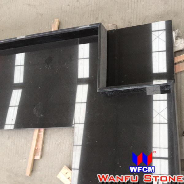 chine noir coupé à la taille du comptoir de cuisine home depot