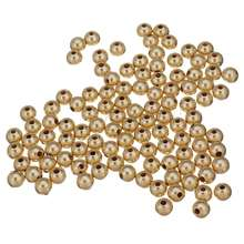 size 2mm 3mm 4mm 5mm 6mm 8mm 14K gold filled matte round coated copper beads
