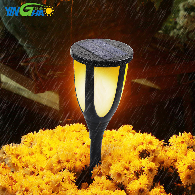 Solar flame Torch Flickering Light Leds Outdoor Solar Light for decoration YH0511