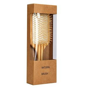 Natural Bamboo wooden Paddle Hair Brush-Detangling Scalp Massage Hair Comb Eco Friendly Box for All Hair Types