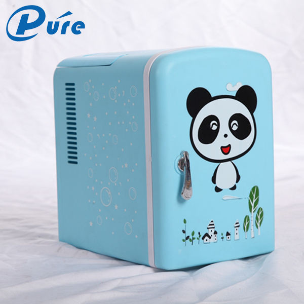2019 New Arrival 4L car mini fridge plastic door promotional portable fridge cosmetics shape fridge cooler and warmer