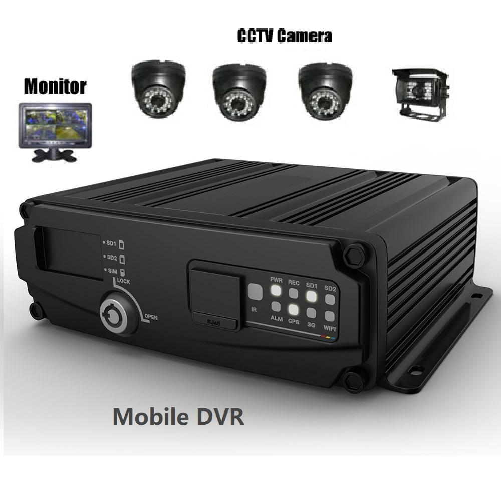 High Quality Vehicle Dvr Front & In-Cab Recording mobile DVR system with fuel sensor