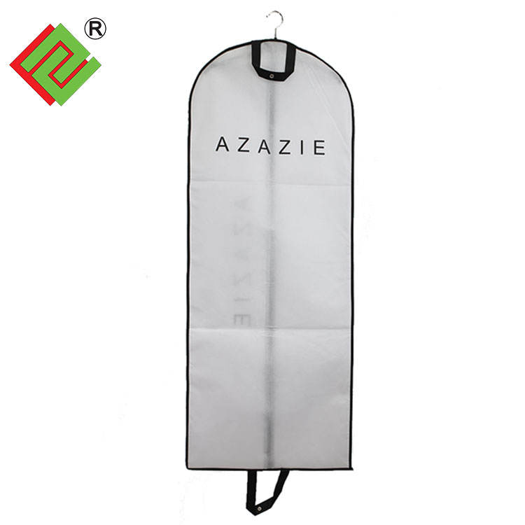 Custom Logo printing Non woven foldable Suit cover/suit bag/garment Bag