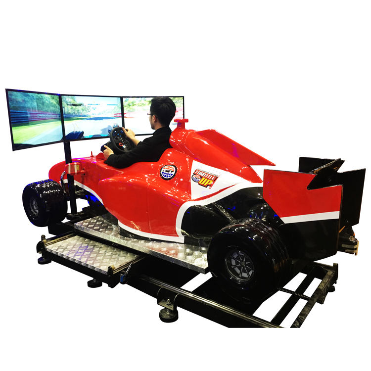VR Virtual F1 Car Driving Simulator VR Motion Simulator F1 Simulator with 3 Screens Displayer