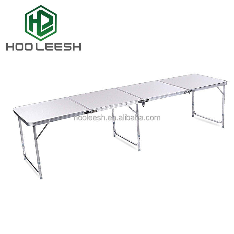 8ft Portable Aluminum Floding Beer Pong Table