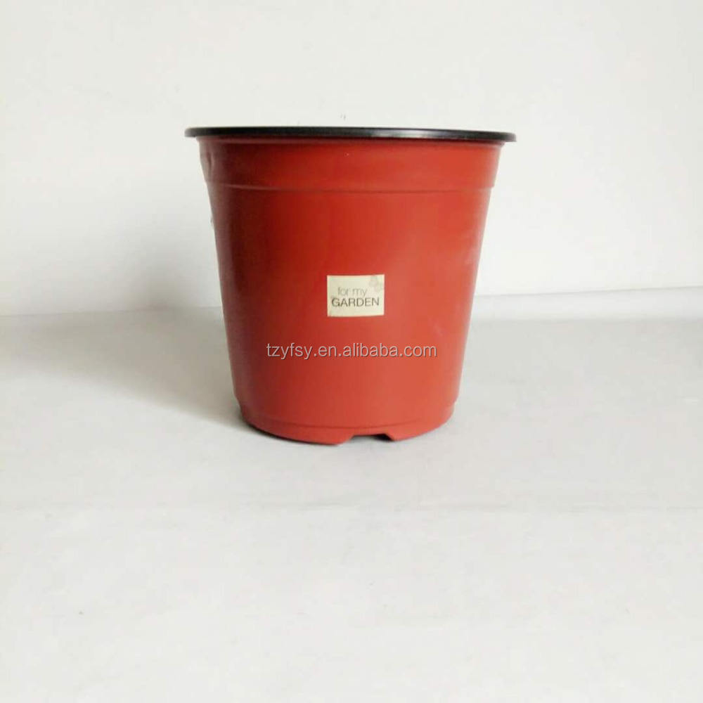 Plastic round nursery pots 4 5 6 7 8 9 inch flower pot for plant