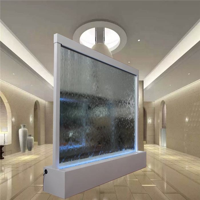 Decorative waterfall indoor glass water fall fountain