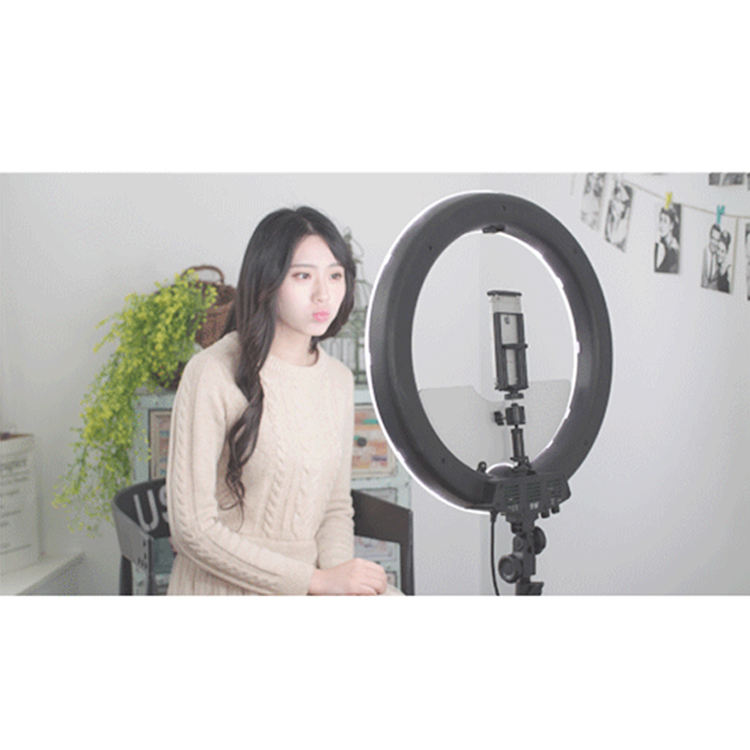 Color Temperature 5500K Daylight Camera 18 Inches Photography Studio Led Makeup Ring Light