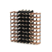 72 bottle wood&metal wine display rack for wine cellar/supermarket