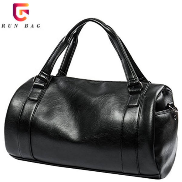 Cheap Black Color PU Leather Luggage Bag Travel荷物For Men
