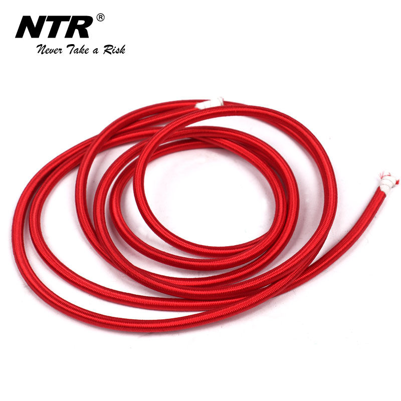 Elastic bungee trampoline rope for fitness of polyester and rubber