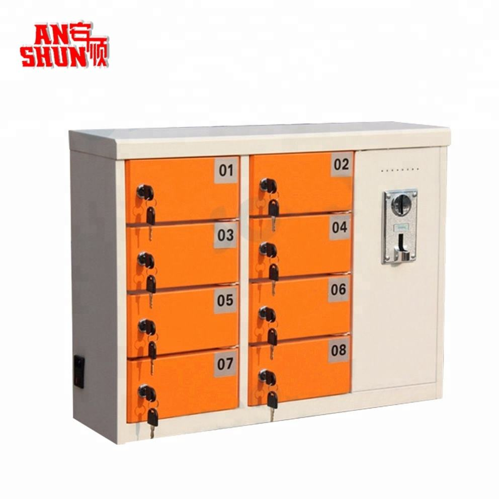 latest design small coin operated mobile phone charging station locker