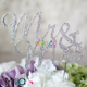 Wedding Birthday Party Decoration Glitter Rhinestone Diamond Crystal Cake Inserted Toppers