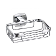 Wall Mounted Square Solid Zinc Alloy and Stainless Steel with Chrome Plated Soap Basket/Soap Dish