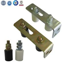 Sliding and cantilever steel gate guide roller with metal bracket