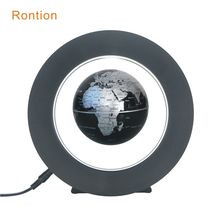 Home Decoration Educational toy magnetic levitation floating world map globe with lighting