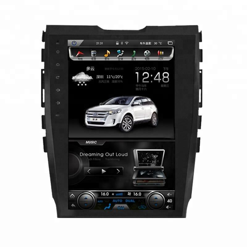 12.1 inch android vertical screen car multimedia GPS navigation car radio dvd player for Ford Edge
