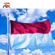 High quality 100% polyester Indonesian 3*5ft flying national flags