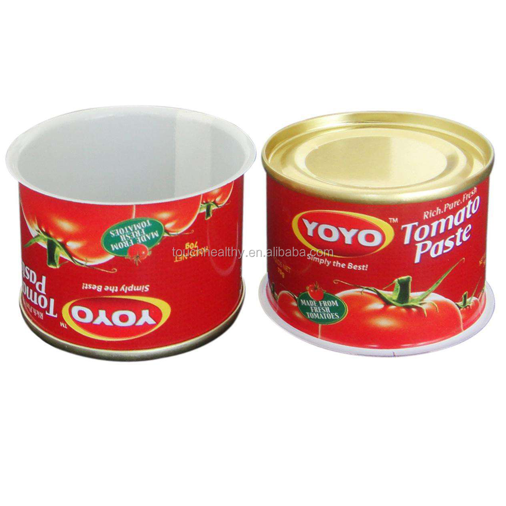 Touchhealthy supply china tomatenpuree blik dubbele geconcentreerd 4500g 4.5 kg fabrikant