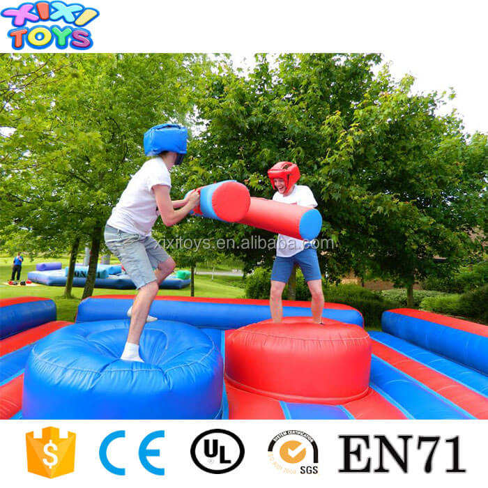 Inflatable jousting platform interactive sport games / Gladiator fighting inflatable arena