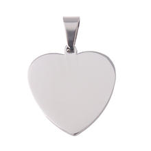 Engravable Stainless Steel Heart Pendant