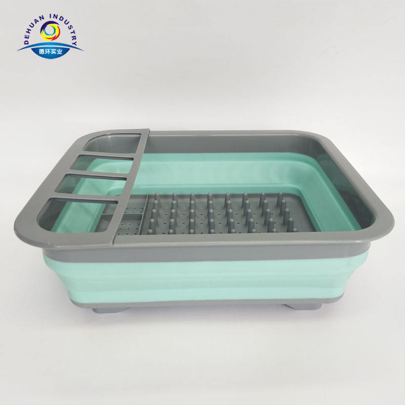 Collapsible Silicone Dish Drying Rack with Holes