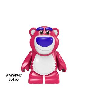 Super Heroes Toy Story Hold the dragon Lotso Bulleye + 버즈 우디 벽돌을 Building Blocks mini action 피규어 juguetes