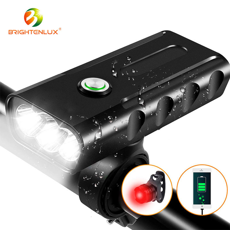 Hot Sale Brightenlux Night Riding Waterproof Build-in Battery Usb Rechargeable White Head Led Bicycle Mountain Bike