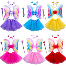 Girls Flower Fairy Princess Tutu Skirt Children Anime Cosplay Costume For Kids Halloween Costume Kid Wear Q1001