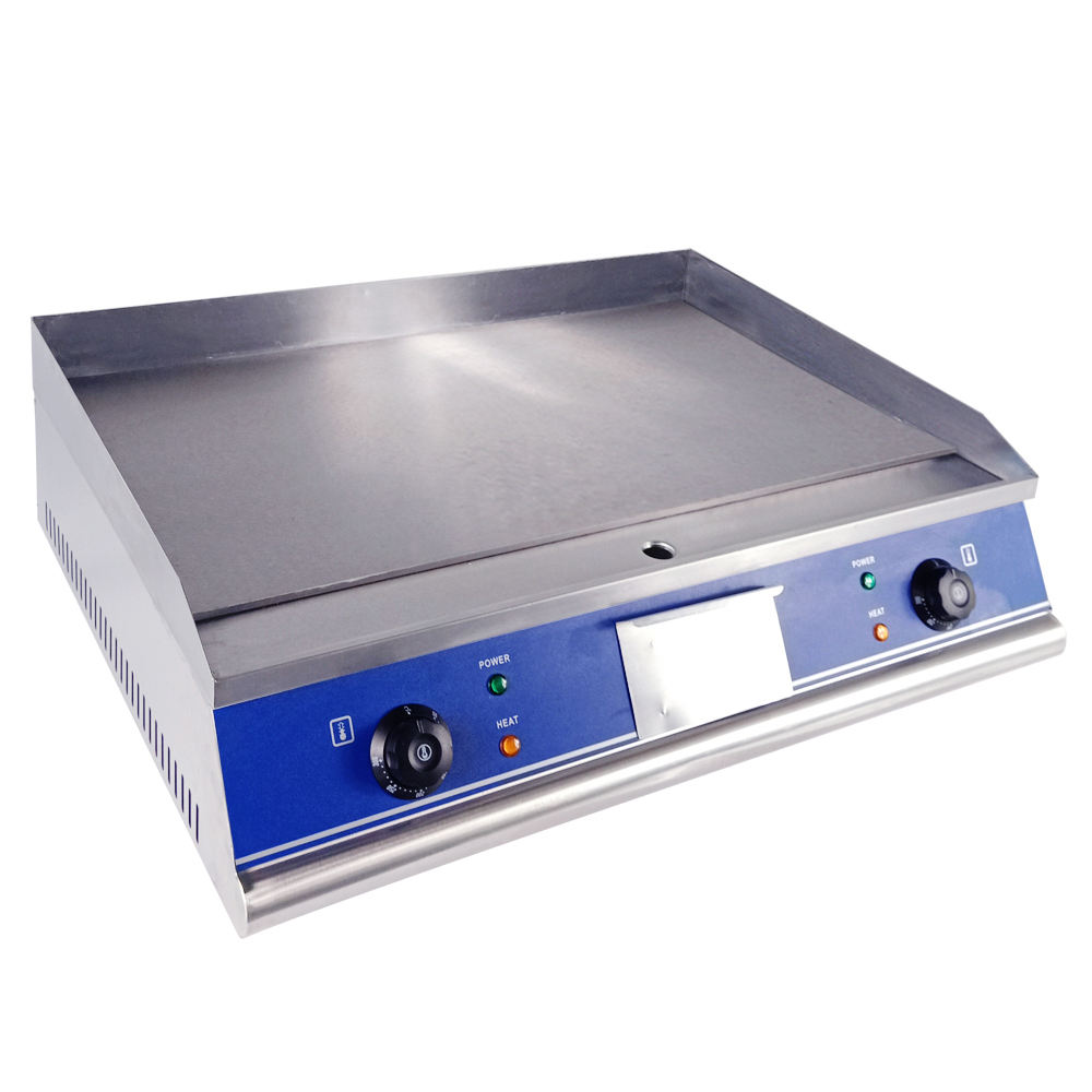 Restaurant Kitchen Equipment Stainless Steel All Flat Tabletop Electric griddle