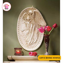 Indoor/Outdoor Decorative wall carving angel sculpture natural marble stone relief