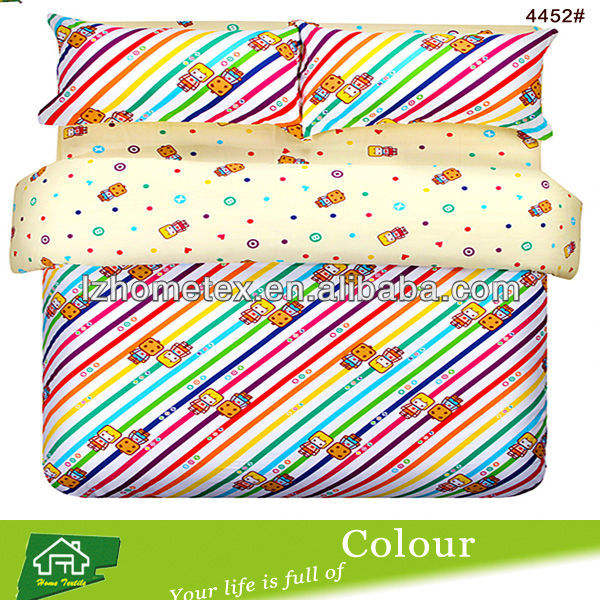 Kids rainbow bridge cartoon design duvet cover bedding set