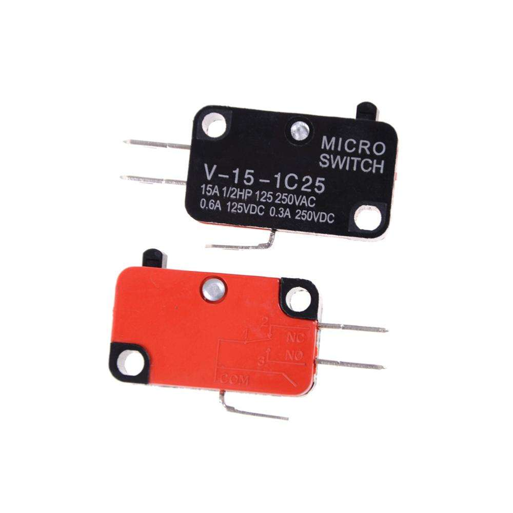 V-15-1C25 250V 16A Microwave Oven Door Arcade Cherry Push Button SPDT 1 NO 1 NC Micro Switch