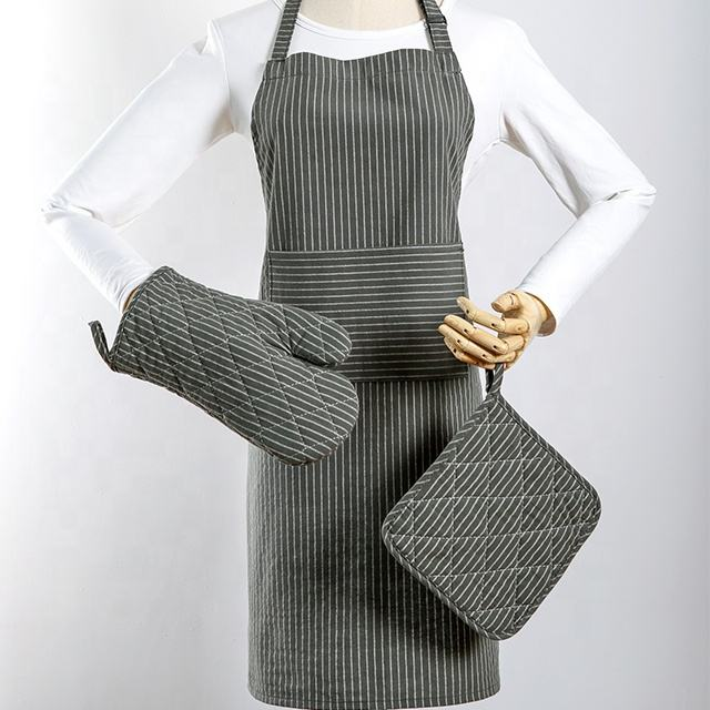 Sublimation Uniform Apron Waiter Chef Kitchen Polyester Custom Apron oven mitt Pot holder