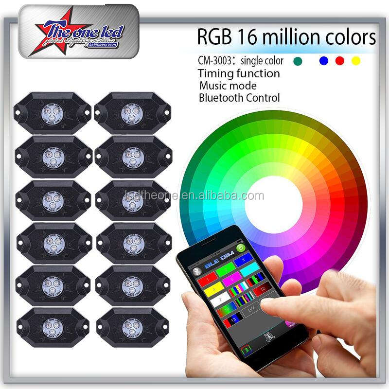 EXW Prijs! 4/6/8/12 Pod rgb rock verlichting bluetooth RGB Multicolor led chassis licht auto led decoratie <span class=keywords><strong>underbody</strong></span>