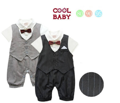 Baby Boy Rompers Suit Gentlemen Baby Boy Formal Clothing Set Rompers for Weddings Baby Boy Outwear