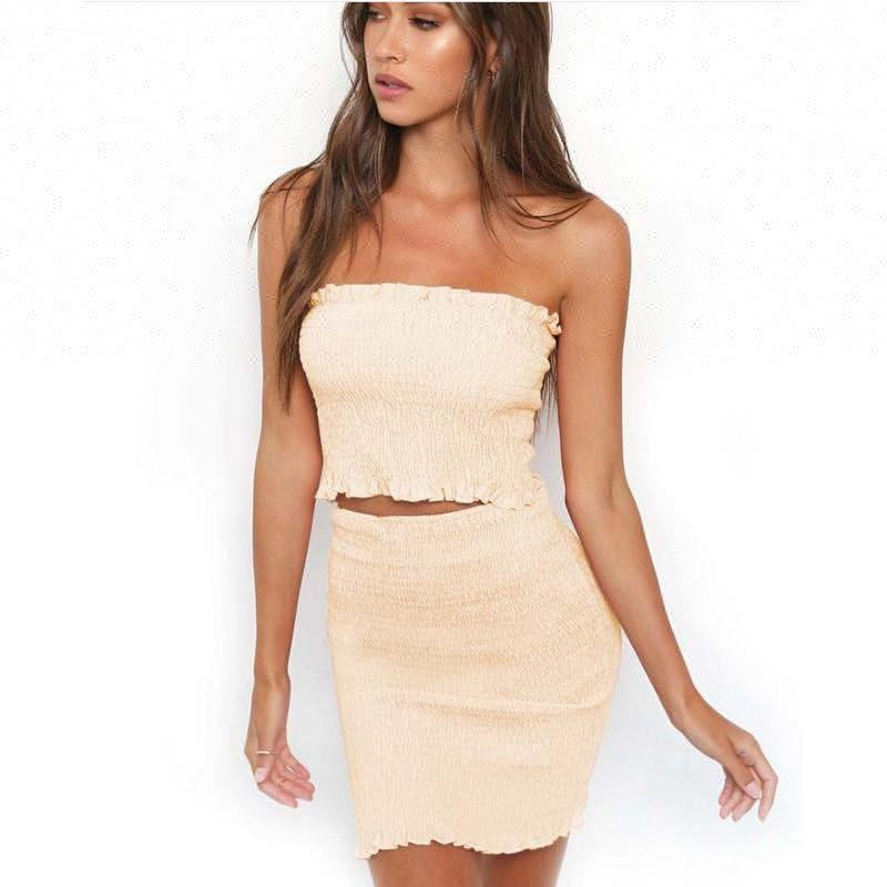 Ebay & Amazon Hot Sales Runway Fashion Sexy Off Shoulder Tight Package Hip Skirt Dress Suit