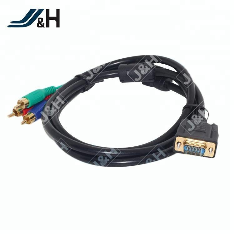 Factory Price Professional Male to Male Audio Video Cable VGA to 3 RCA Cable
