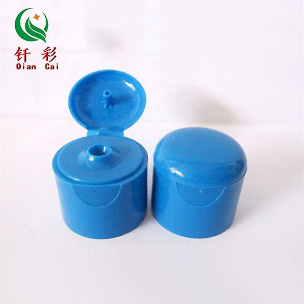 24/410 round head plastic flip top cap shampoo bottle cap/cover