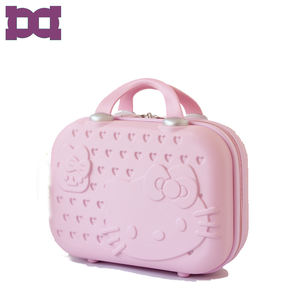 Custom Hello Kitty 14 inch size hand luggage bags suitcase