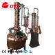 Micro whiskey gin distillery jacket heating distillation copper still pot with factory price